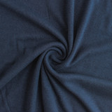 Tencel & Organic Cotton 2x2 Ribbing - Navy | Blackbird Fabrics