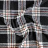 Japanese Deadstock Plaid Wool Blend Suiting - Ivory/Rust/Black | Blackbird Fabrics