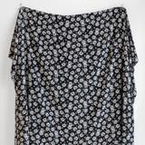 Daisy Printed Viscose Crepe - Black/White | Blackbird Fabrics