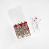 Clover Glass Head Silk Pins | Blackbird Fabrics
