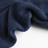 Lightweight Boiled Wool & Viscose - Dark Denim | Blackbird Fabrics