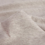 100% Organic Cotton Jersey Knit - Heather Oatmeal | Blackbird Fabrics