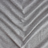 100% Organic Cotton Jersey Knit - Heather Grey | Blackbird Fabrics