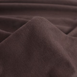 SOLD BY THE METRE BROWN VELOUR JERSEY FABRIC