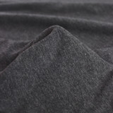 100% Organic Cotton Jersey Knit - Heather Charcoal | Blackbird Fabrics