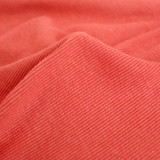 Bamboo & Cotton Sweatshirt Ribbing - Deep Coral | Blackbird Fabrics