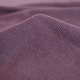 Bamboo & Cotton Sweatshirt Ribbing - Grape | Blackbird Fabrics