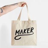 MAKER Tote Bag - 12oz Organic Cotton Canvas  | Blackbird Fabrics