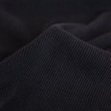 Bamboo & Cotton Sweatshirt Ribbing - Black | Blackbird Fabrics