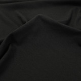 Cotton Jersey Knit - Black | Blackbird Fabrics