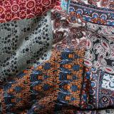 Patchwork Print Viscose Poplin - Multicolour | Blackbird Fabrics