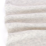 Medium Weight Bamboo Rib Knit - Light Heather Grey | Blackbird Fabrics