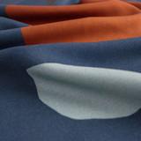 Rock Printed Viscose Challis - Blue | Blackbird Fabrics