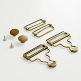 Overalls Hardware Kit - Antique Gold | Blackbird Fabrics