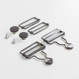 Overalls Hardware Kit - Gunmetal | Blackbird Fabrics
