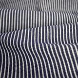 10oz Railroad Striped Denim - Dark Indigo/White | Blackbird Fabrics