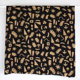 Abstract Shapes Rayon Voile - Black/Sand   Blackbird Fabrics