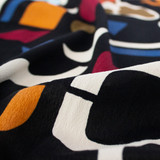 Abstract Shapes Rayon Crepe - Black/Multi | Blackbird Fabrics