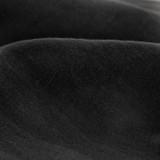 Lightweight Washed Linen - Black - 1/2 meter