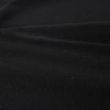7oz Organic Cotton Twill - Black   Blackbird Fabrics