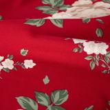 Large Roses Rayon Crepe - Red | Blackbird Fabrics