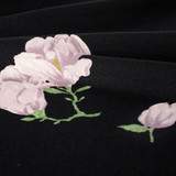Large Floral Rayon Crepe - Black/Dusty Lilac | Blackbird Fabrics