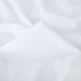 100% Organic Cotton Jersey Knit - White | Blackbird Fabrics