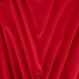 Bamboo & Cotton Stretch Fleece - Classic Red | Blackbird Fabrics