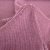 Bamboo & Cotton 2x2 Ribbing - Dusty Mauve | Blackbird Fabrics