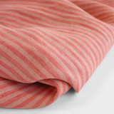 Striped Linen - Peach/Guava | Blackbird Fabrics