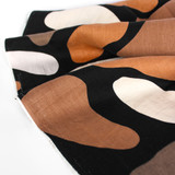 Abstract Bean Printed Linen - Black/Multi | Blackbird Fabrics