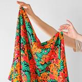 Bright Floral Printed Ecovero - Black/Multi | Blackbird Fabrics