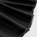 Raw Silk Noil - Black | Blackbird Fabrics