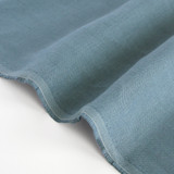 6.5oz Linen - Dusty Blue | Blackbird Fabrics
