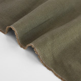 6.5oz Linen - Military | Blackbird Fabrics