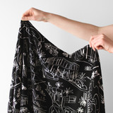 Sketched Architecture Printed Viscose Twill - Black/White | Blackbird Fabrics