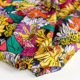 Printed Repreve Polyester Swim Tricot - Retro Floral Garden | Blackbird Fabrics