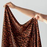 Printed Repreve Polyester Swim Tricot - Leopard | Blackbird Fabrics