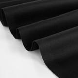 8.5oz Cotton Chino Twill - Black | Blackbird Fabrics