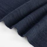 Textured Cotton Linen Jacquard - Navy | Blackbird Fabrics