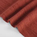 Textured Cotton Linen Jacquard - Spice | Blackbird Fabrics