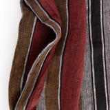 Wide Striped Linen Gauze - Black/Multi | Blackbird Fabrics