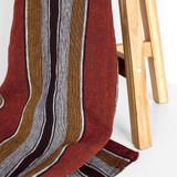 Pinstripe Linen Gauze - Sand/Grey | Blackbird Fabrics