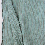Striped Linen Gauze - Mediterranean Blue | Blackbird Fabrics