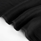 5.5oz Softened Linen - Black | Blackbird Fabrics
