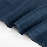 5.5oz Softened Linen - Dark Denim | Blackbird Fabrics