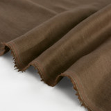 5.5oz Softened Linen - Cacao | Blackbird Fabrics
