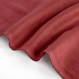 5.5oz Softened Linen - Rosewood | Blackbird Fabrics