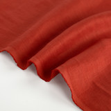 5.5oz Softened Linen - Red Clay | Blackbird Fabrics