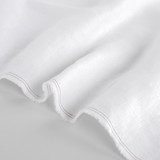 5.5oz Softened Linen - White | Blackbird Fabrics